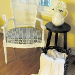 high back chair makeover
