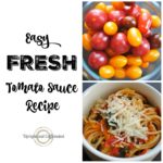 Fresh Tomato Sauce Recipe Pinable Graphic