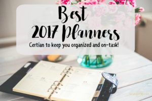 Here are the best 2017 planners to keep you organized and on-task this year! Upright and Caffeinated