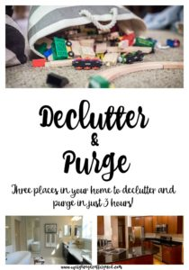 Declutter and Purge three places in your home in just three hours!