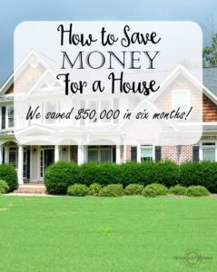 Ten excellent tips for how to save money for a house. This couple saved fifty thousand dollars in just six months!