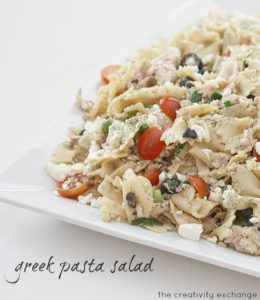 Pasta salads are always a hit at picnics. This Greek pasta salad is easy to make and one of the best side dishes for your next picnic or potluck.
