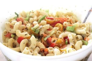 Macaroni salad is always a great side dish to bring to a picnic or potluck. This is a fantastic recipe that is sure to be gobbled up!