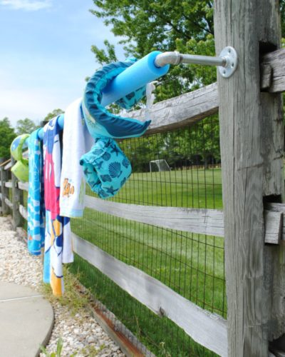 DIY Outdoor Towel Rack