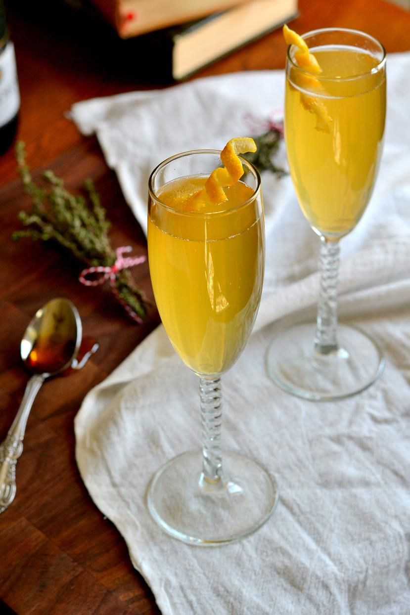 This Champagne cocktail is a staple for Mother's Day brunch cocktails.