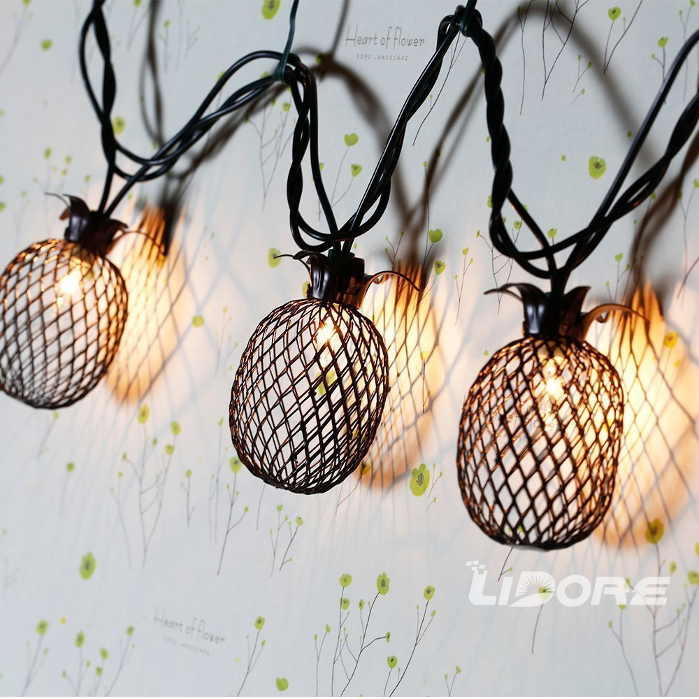 These lights are fantastic!! Perfect pineapple decor for a summer patio!