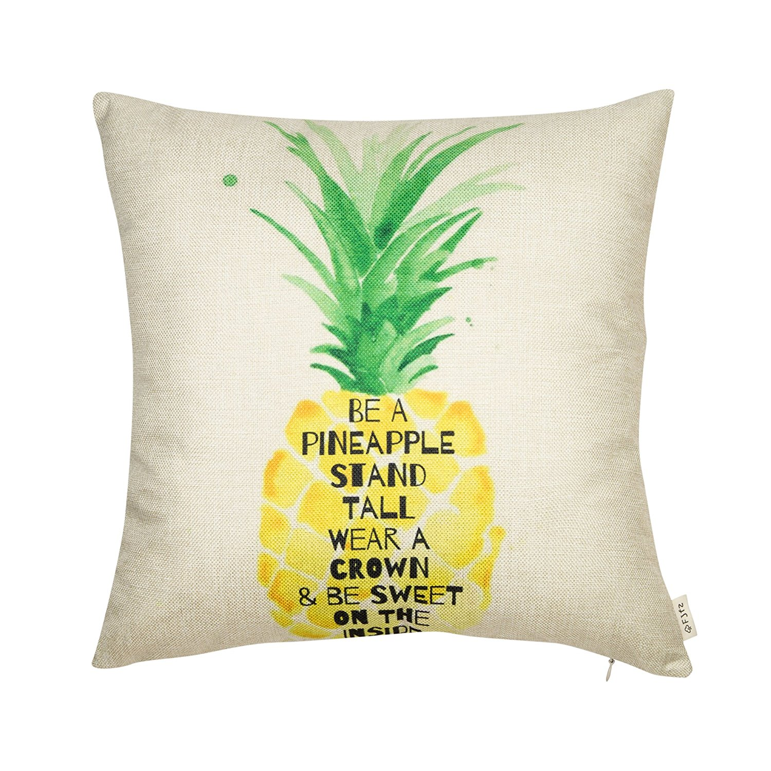 I love the saying on this pineapple decor pillow!