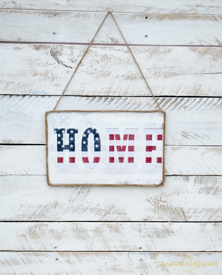 This flag sign is perfect for Memorial Day, Veteran's Day, Flag Day and 4th of July!