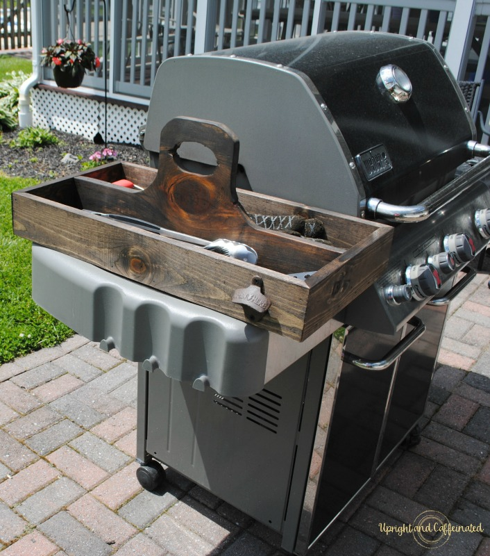 DIY grill tool box tutorial! Keep your grill accessories in one place!