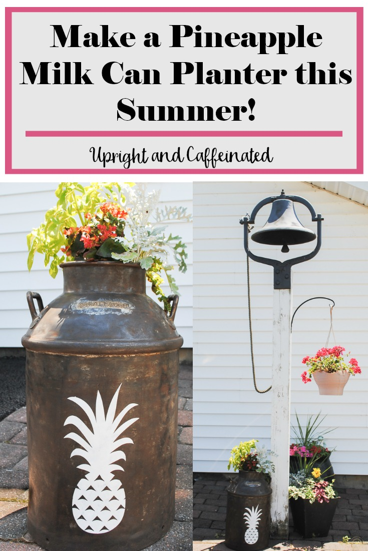 Make a pineapple milk can planter this summer!