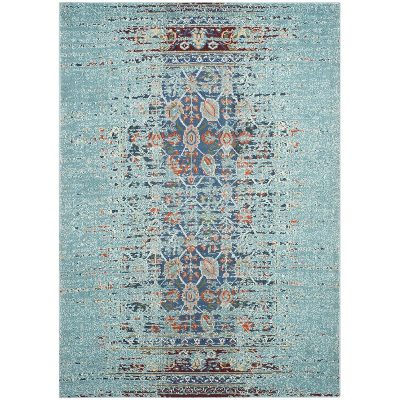 This rug is perfect for coastal living room design plans