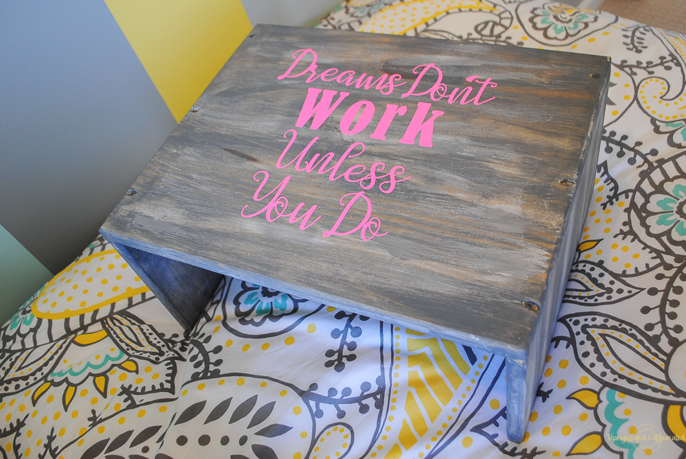 Dreams don't work unless you do - make this DIY laptop table today.