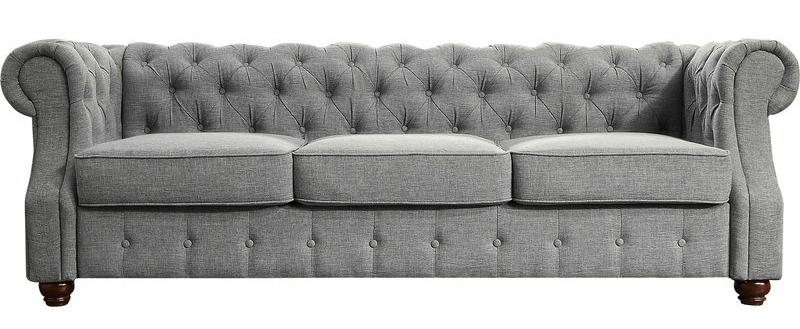 This sofa is the centerpiece of our living room design plans.
