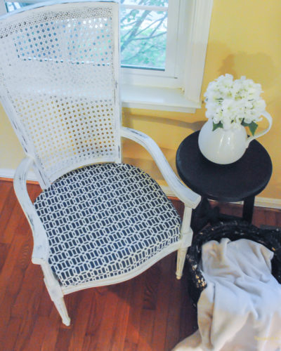 Caned High Back Chair Makeover