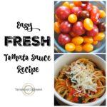 Fresh Tomato Sauce Recipe Pinable Graphic