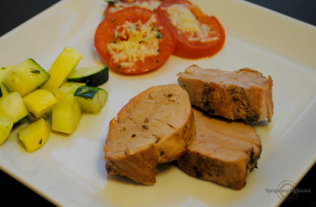 Plated Roasted Pork Tenderloin