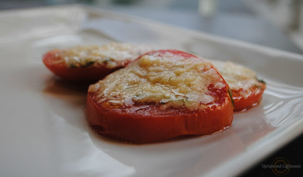 Parmesan Roasted Tomatoes Upright And Caffeinated