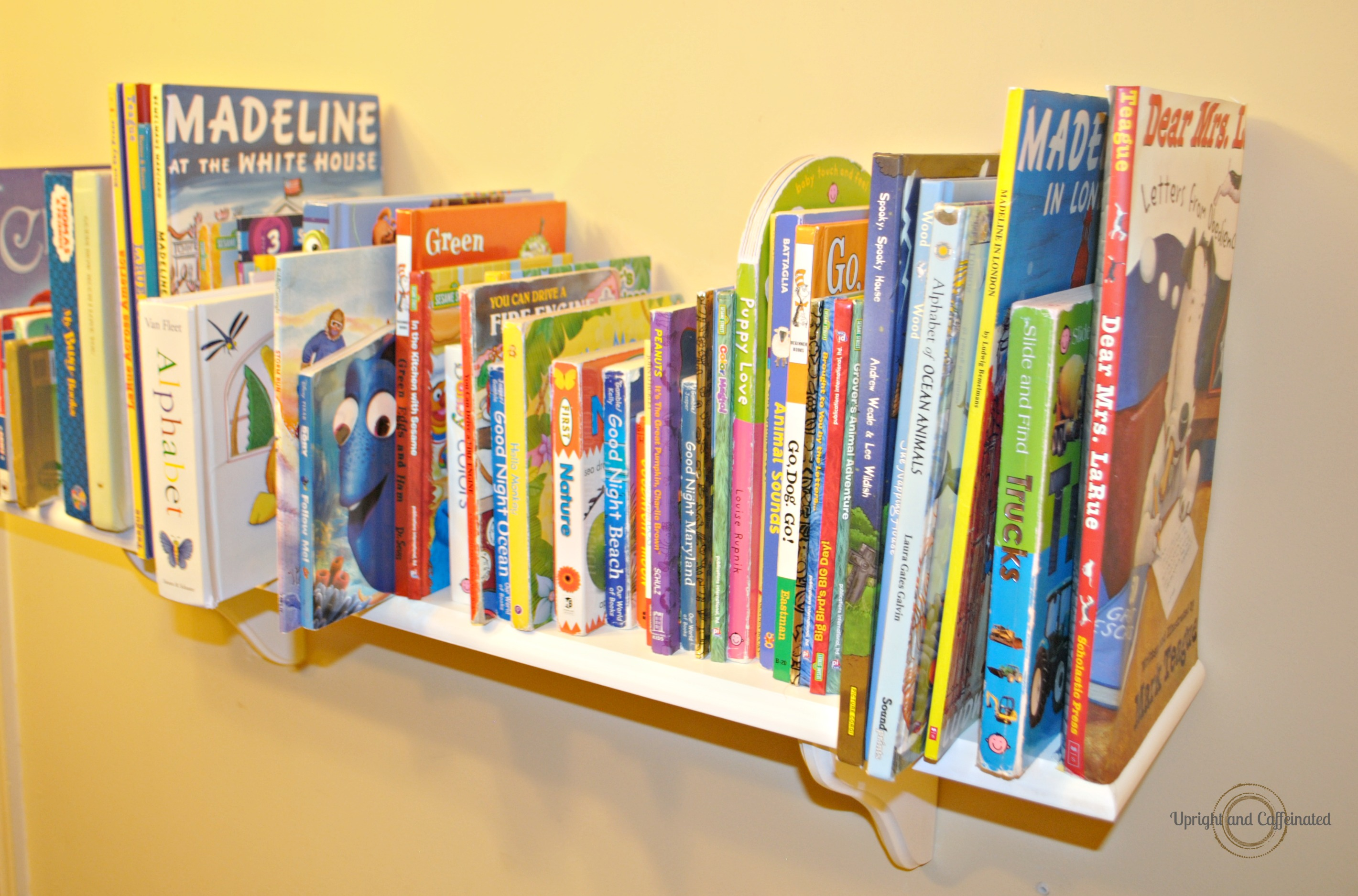 Simple Bookshelf with Creative DIY Bookends