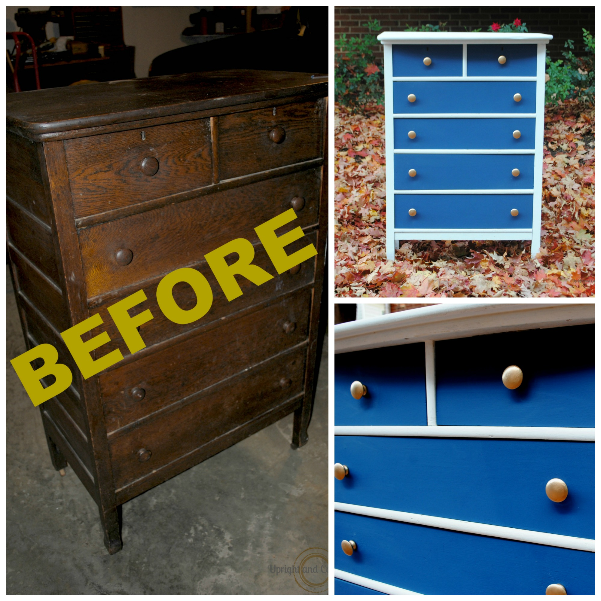 Check out this amazin Antique Dresser Makeover