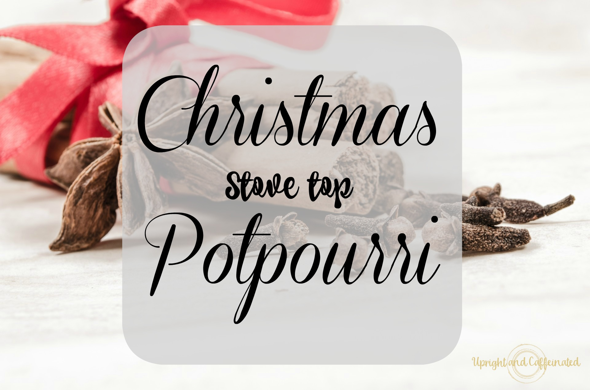 Make your house smell AMAZING! Christmas Stove Top Potpourri. Upright and Caffeinated