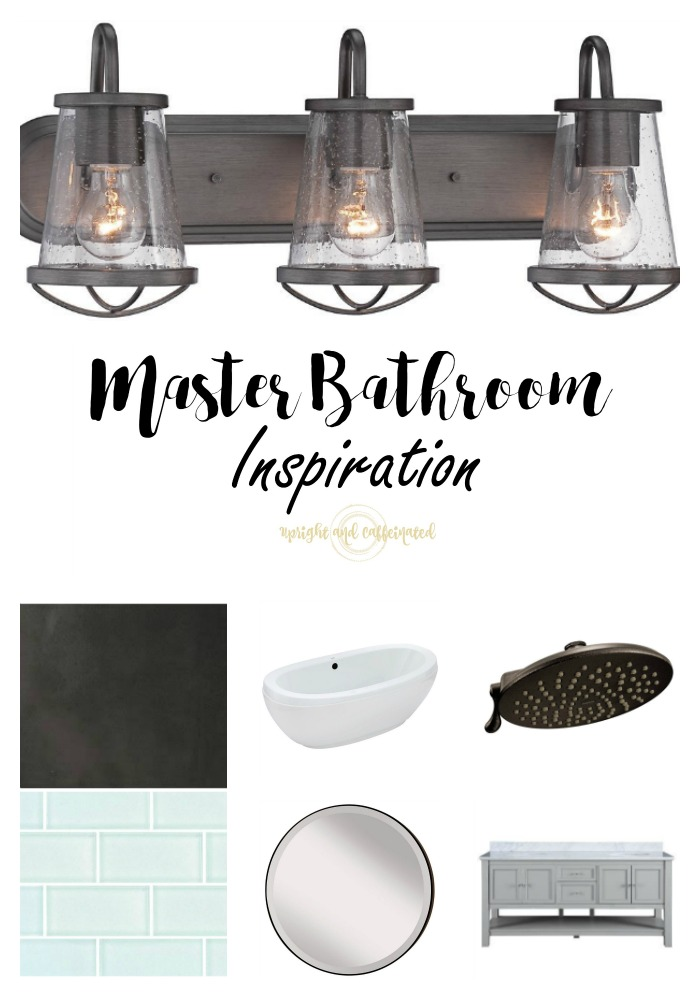 Check out our master bathroom inspiration for our new house. Upright and Caffeinated