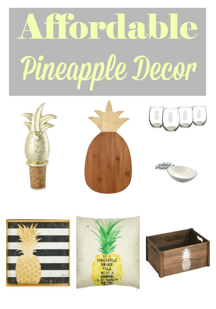 I love finding affordable home decor items and this is a FANTASTIC list of pineapple decor just in time for summer!!