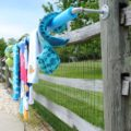 This DIY outdoor towel rack is a simple solution to a problem!