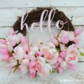 Hello Beautiful!! This summer wreath is stunning with it's simple message and lovely pink flowers!