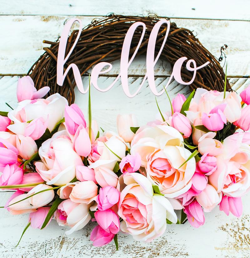 Hello Summer Wreath Upright And Caffeinated