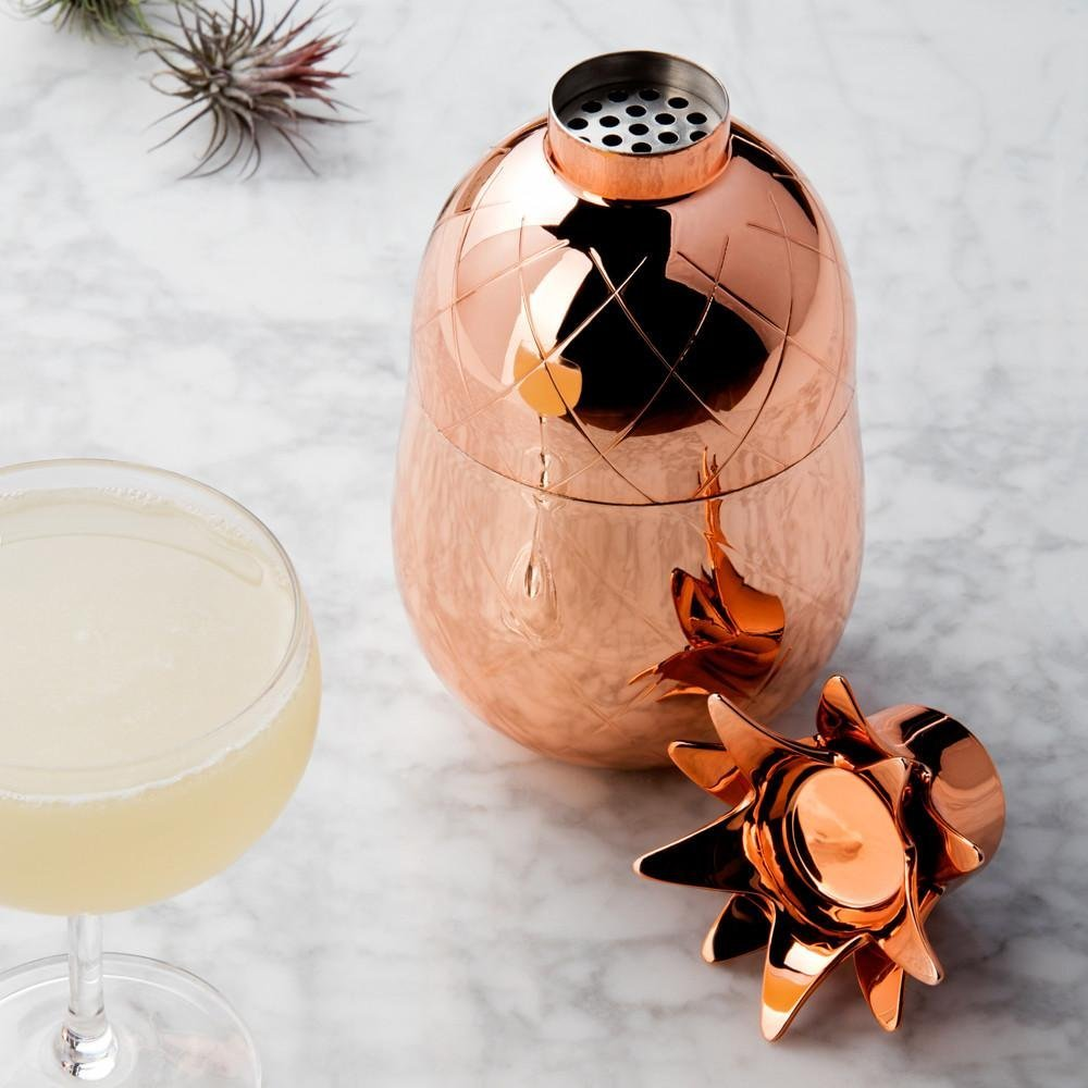 I love this pineapple cocktail shaker. This must have pineapple decor piece is perfect for entertaining this summer.