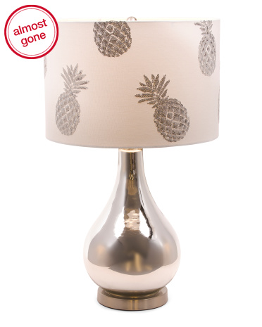 This lamp shows a simple design that is perfect to add to your pineapple decor collection.