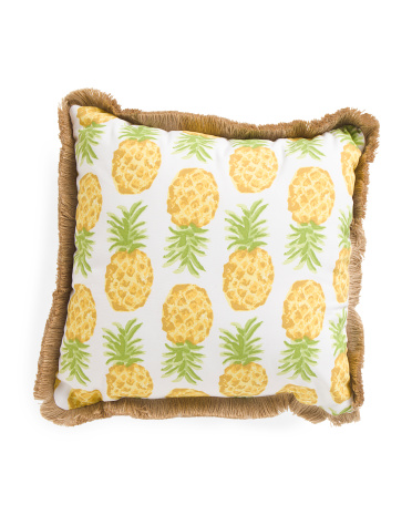 This pillow would match and summer patio with pineapple decor!