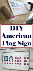 Make this simple DIY American flag sign for any patriotic holiday or to welcome your favorite solider home! Click for the full tutorial!