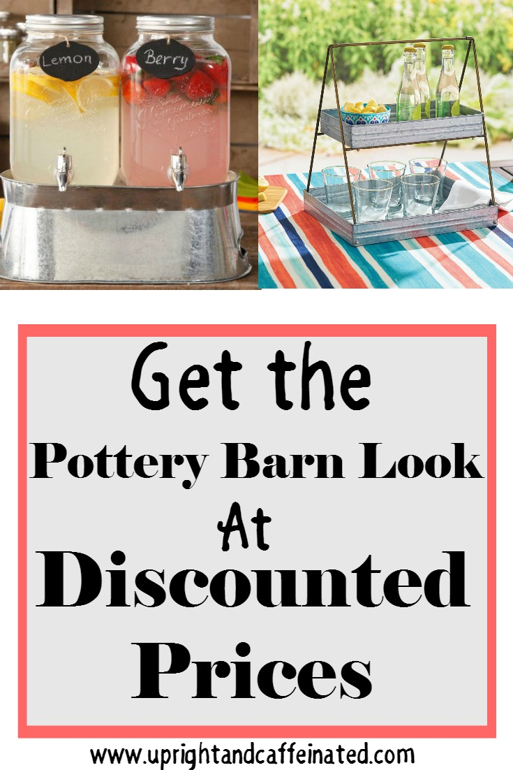 Get the Pottery Barn look at discounted prices. A full list of galvanized outdoor entertaining supplies you can get for a fraction of the cost.