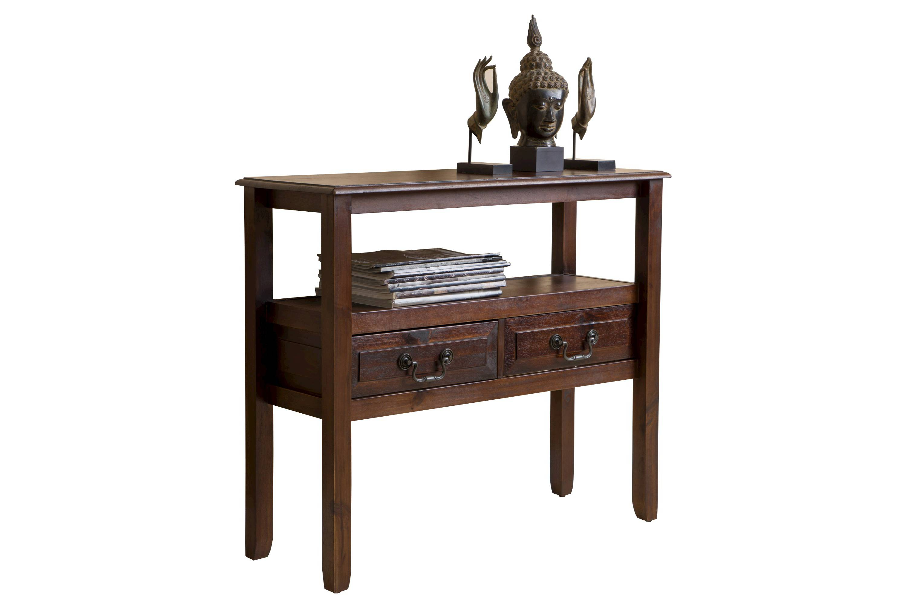 This entryway table is stunning and has two drawers to store things you need!