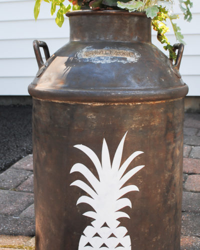 Pineapple Milk Can Planter