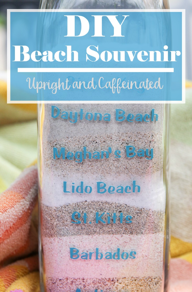 This DIY beach souvenir is such a unique idea and can be made with an empty bottle and a Cricut Explore Air 2.