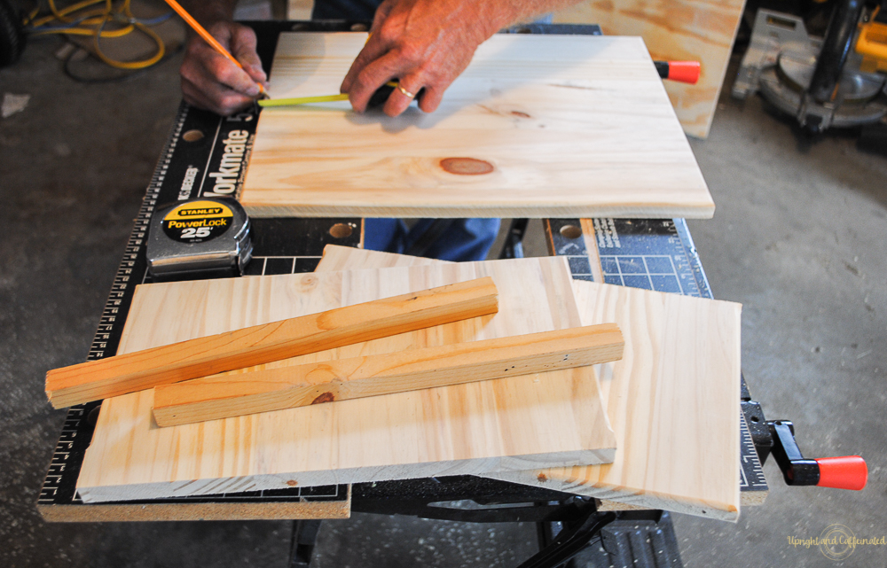 This is all the wood you need to make a DIY laptop table.