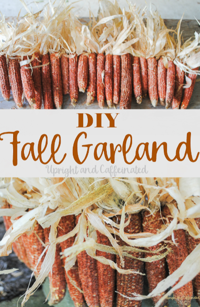 Make this DIY Fall Garland for basically nothing!  Click for details!