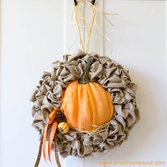 Fall door wreath from Small House Soul.