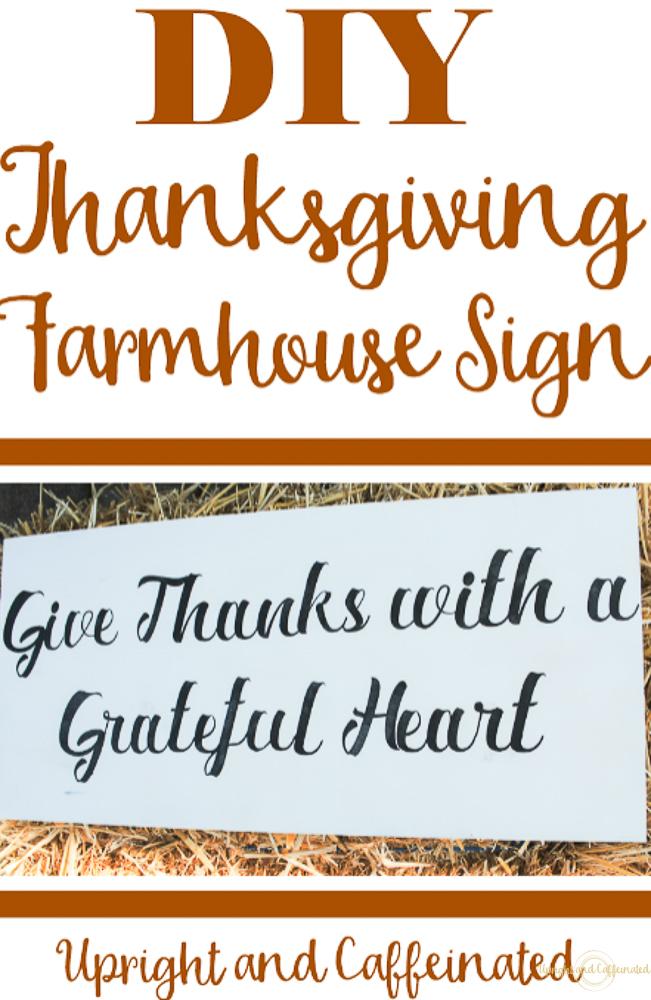 Make this Thanksgiving Farmhouse Sign with a Cricut Explore Air 2.