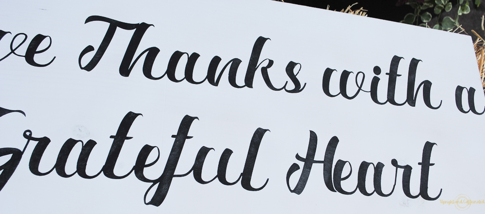 Give Thanks with this farmhouse sign