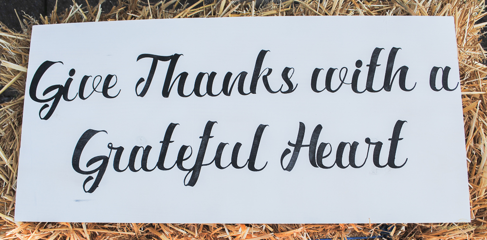 Beautiful for fall, this farmhouse sign is simple and sends a lovely message.