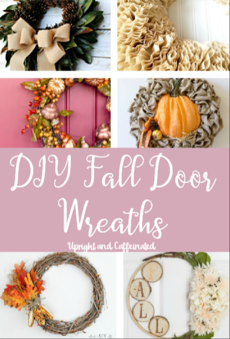 Check out these amazing DIY fall door wreaths!