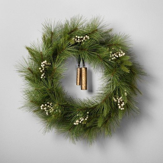 Pine Wreath with Bell {Hearth and Hand with Magnolia}
