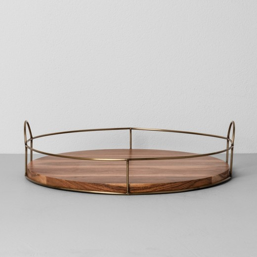 Round Wood and Wire Tray {Hearth and Hand with Magnolia}