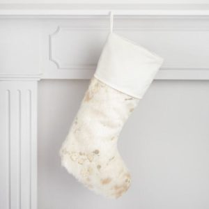 Super cute cowhide Christmas Stocking under $20.