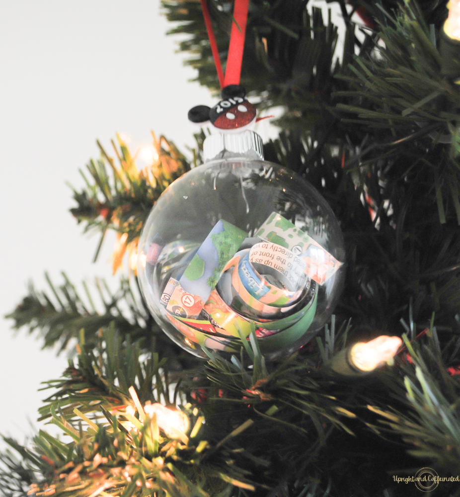 make this diy disney may ornament to add to your christmas tree decorations