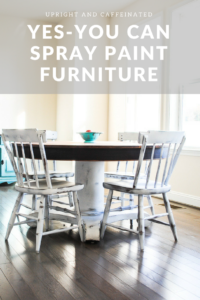 Click to find out how to spray paint furniture!