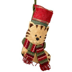 This cute kitty scarf Christmas stocking is less than $20!